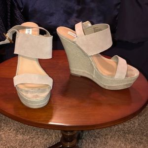 Steve Madden Suede Wedge Sandals